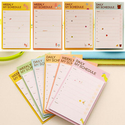 Cute Daily Planner Post It Bookmark Marker Memo Sticky Notes Notepad Check List