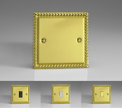 Georgian Brass Classic Light Switches 10 Amp 2-Way - Gang & Switch Options