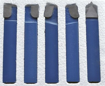 "1/2"" Carbide Tip Tool Bits 5 Pc Set Lathe Tool & Milling Cutting Tools"