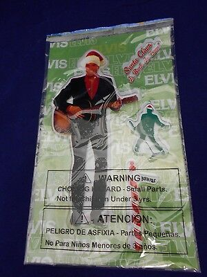 Elvis Playing a Guitar 4 piece set  Window Clings