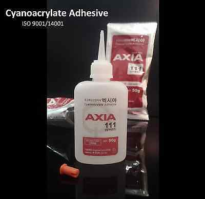 AXIA 111 Cyanoacrylate Instant Adhesive EPDM Rubber Metal Glass Super Glue (50g)