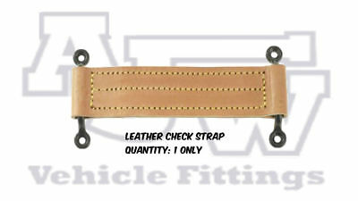 1 X Leather Check Straps C/W Black Staples Coach Bus Emergency Door Kit Car