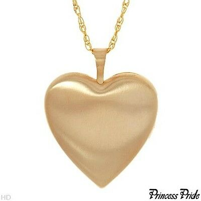 PRINCESS PRIDE 14K Yellow Gold / 925 Silver LOCKET Necklace 26mm