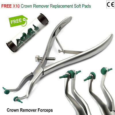 Crown Removing Instrument with Rubber Jaws, Removes crown without damage Lab New