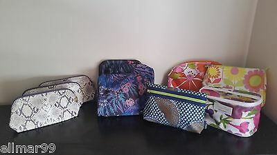Estee Lauder & Clinique Assorted Makeup/Cosmetic Bags/Cases Lot of 10