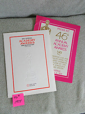 Academy Awards 46th 1974 program and  Press Kit , The Sting, Save the Tiger