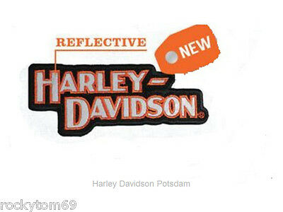 """Harley-Davidson® Block H-D Name """"Reflective"""" Small Patch  • 5""""W x 2""""H-EM103642"""