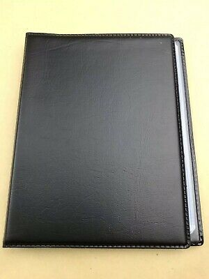 BLACK / BROWN BUSINESS NAME CARD HOLDER BOOK (holds 96 cards)