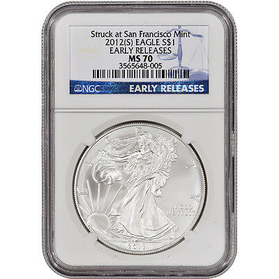 2012-(S) American Silver Eagle - NGC MS70 - Early Releases
