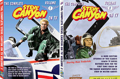 Steve Canyon TV DVD VOLUMES 1 & 2 together - 24 shows!!
