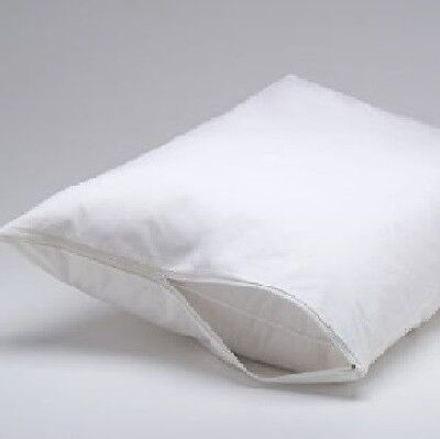 2 X Pillow Protector Covers with Zipper Opening 46 X 70cm