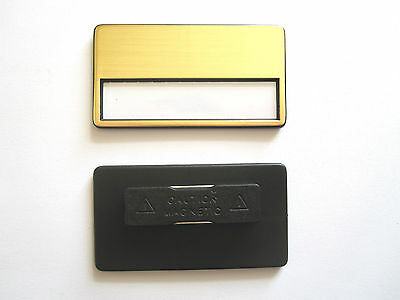 10 x High Valued Plastic Name tag with Magnet golden