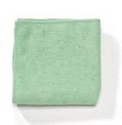Microfibre Cloths Green (10) Polishing Dusters, Cleaning Wipers