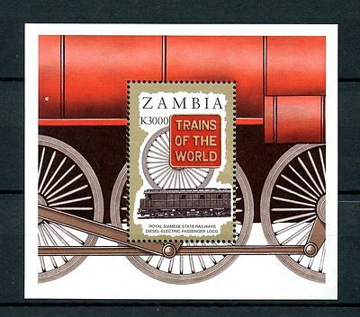 Zambia 1997 MNH Trains of World 1v S/S I Railways Züge Treni Chemin Fer Stamps