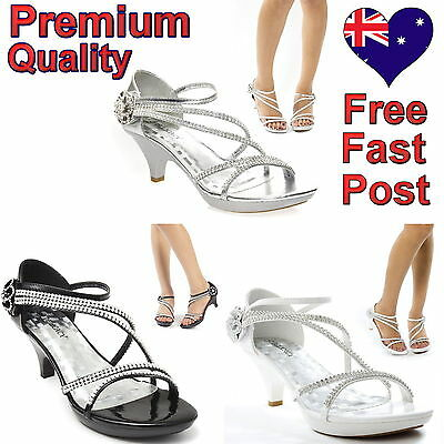 Women's Heel Shoes Rhinestone Sandals Wedding Evening Bridal Bridesmaid Shoes