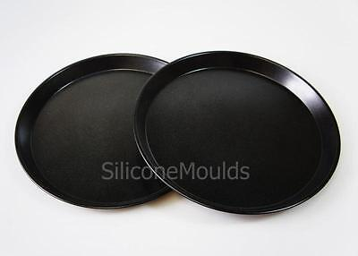 2 x Round BAKING TRAY for 12ltr Halogen Oven Cooker Spare Part Accessories Trays