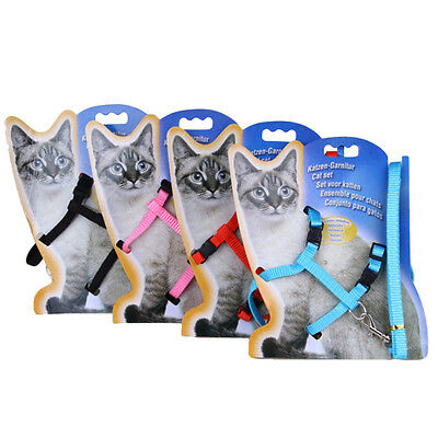 Adjustable Harness Collar Durable Animal Walking Lead for Pet Rabbit Cat Kitten