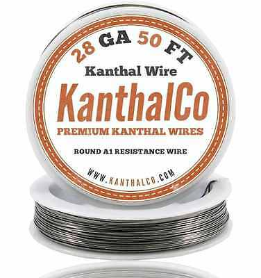 Vape and wires round kanthal resistance wire 28 gauge awg a1 100ft kanthalco kanthal wire 28 gauge awg a1 50ft roll 032mm 527 ohmsft keyboard keysfo Images
