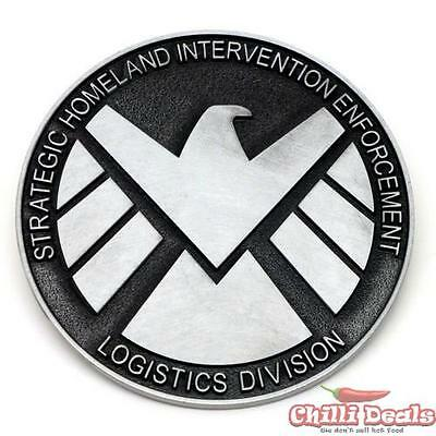 Marvel Comics AGENTS OF SHIELD LOGO Metal Steel Men's Ladies Unisex Belt Buckle
