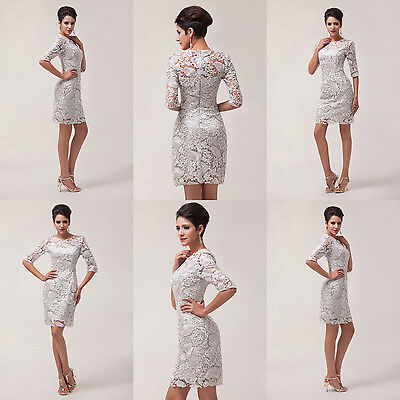 VINTAGE Lace Formal Mother of the Bride Groom Gowns Prom Evening Party Dress NEW