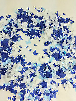 Blue Biodegradable Confetti Butterfly WhiteEco Friendly Large Bag Wedding UK