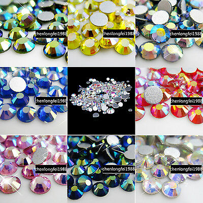wholesale non hotfix crystal flatback 3d nail art rhinestones tips decoration