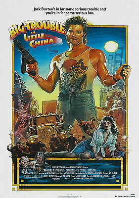 Big Trouble In Little China Vintage Movie Giant Poster - A0 A1 A2 A3 A4 Sizes