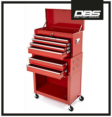 New Motorcycle Mechanics Heavy Duty Tool Box Chest Roller Cabinet Honda Red