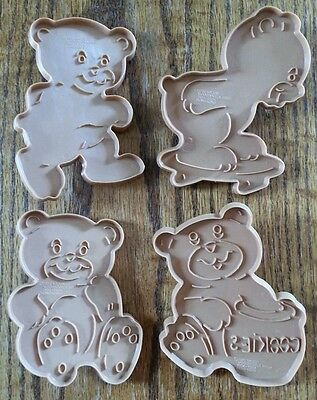 Cookie Cutter Lot RARE Set 4 Wilton 1990 Honey Teddy Bear with Cookie Jar & More
