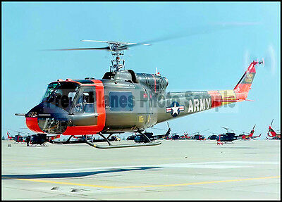"""US Army UH-1A Iroquois """"Huey"""" Lifts Off 5x7 Aircraft Photos"""