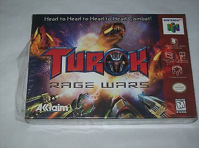 NINTENDO 64 GAME TUROK RAGE WARS OPEN BUT NEVER TOOK OUT OF BOX