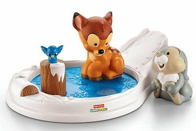 Fisher Price Little People Bambi and & Thumper- Disney Movie Moments x7831