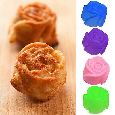 10X Pro Silicone Rose Muffin Cookie Cup Cake Baking Chocolate Jelly Maker Mould