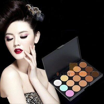 JF#E New 15 Colors Beauty Pro Face Cream Makeup Concealer Contour Palette Kits