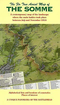 Map Of The Somme - Aerial Map Of The Somme Battlefield - Flat Laminated Edn.