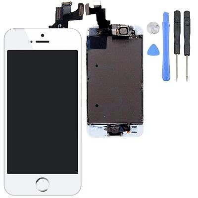 White LCD Lens Touch Screen Display Digitizer Assembly Replacement for iPhone 5S