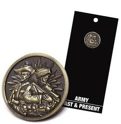 Army Past & Present Lapel Pin - ANZAC Day * Remembrance Day