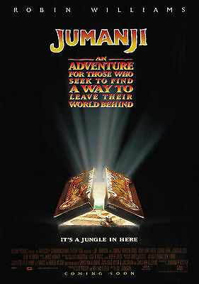 Jumanji Vintage Movie Large Poster - A0 A1 A2 A3 A4 Sizes