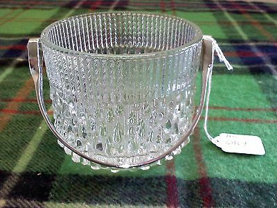 Teleflora, France, small glass ice bucket with metal handle
