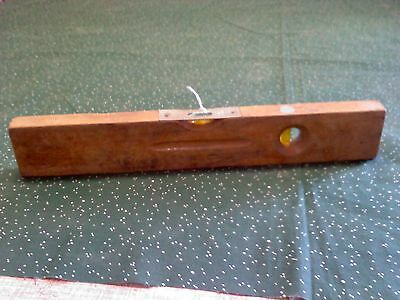 """Stanley wood level, No. 107, 12"""", 2 bubbles vintage carpentry tool"""