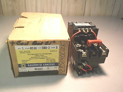 New Square D Ac Magnetic Starter W/ Separate Control 86463, Type Sb0-2, Series A