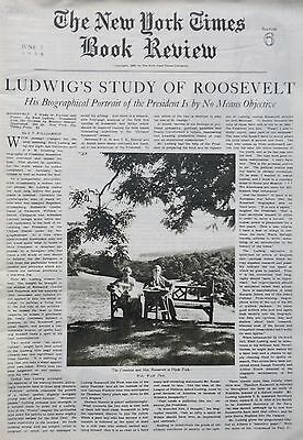 ROOSEVELT LUDWIG HYDE PARK 6-1938 June 5 AMERICANS ON RELIEF LE ROY FLINT SMITH