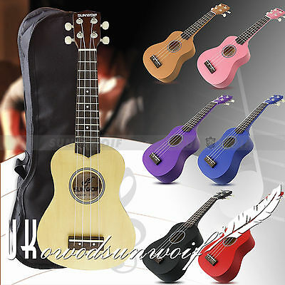 Beginners Ukulele Uke Soprano Musical Instrument Guitar 4 String 8 Colors + Bag