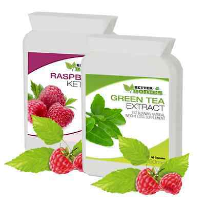 Raspberry Ketones & Green Tea Diet Colon Cleanse Pack Weight Loss Slimming Pills