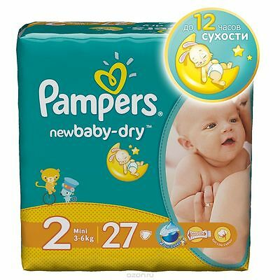 Pampers Active Baby-Dry & Newborn. The disposable diaper for Baby. Size 0-5.
