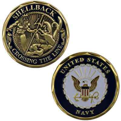 US Navy Shellback Crossing The Line Challenge Coin