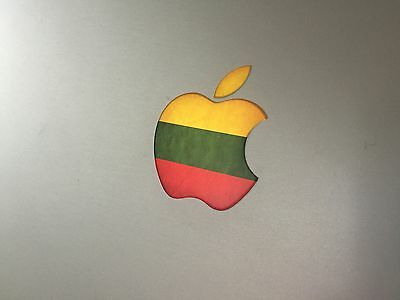 "Lithuania Flag Apple Logo Vinyl Decal Sticker for Apple MacBook Air/Pro 13"" 15"""