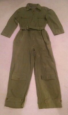 ORIGINAL WW2 US ARMY AIR FORCES COVERALL FLIGHT SUIT A-4 A4 W/ SOLDIERS NAME