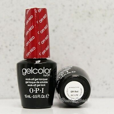 OPI GelColor Reds Collection GC L72 OPI RED 15 mL/ 0.5 oz UV LED Gel Nail Polish