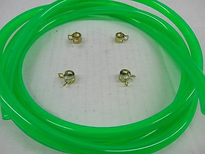 Electric Green Fuel Line Kit For Snowmobile Atv Dirt Bike Quad Mower Motorcycle